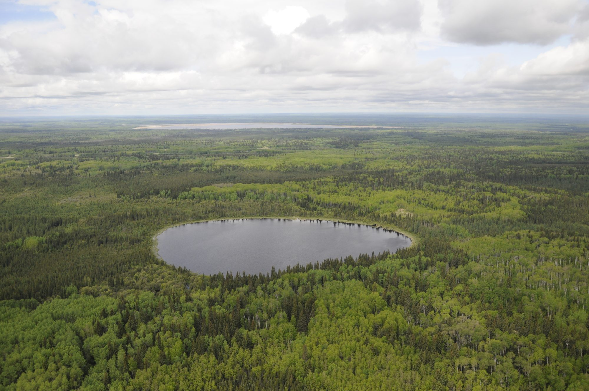 boreal forest lake