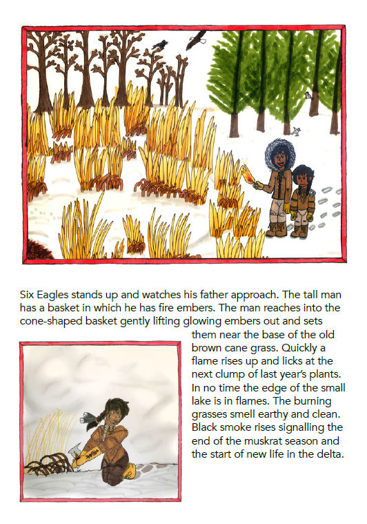 A page from the Muskrats and Fire book